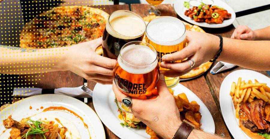 horario de almoco beber alcool